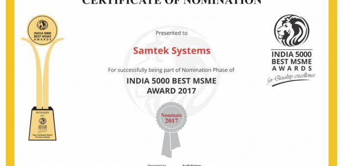 India 5000 Best MSME Awards 2017